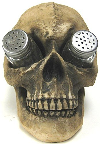 Creepy-Human-Skull-Salt-and-Pepper-Shaker-Set